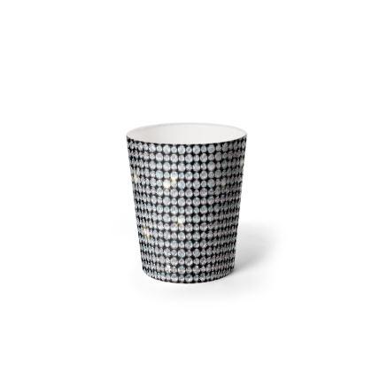 Diamond glamor - Waste Paper Bin - Brilliant crystals, chic, black and white, sparkling, precious, humor, looks expensive, rhinestones, glitter, jewelery, glamorous fun gift - design by Tiana Lofd