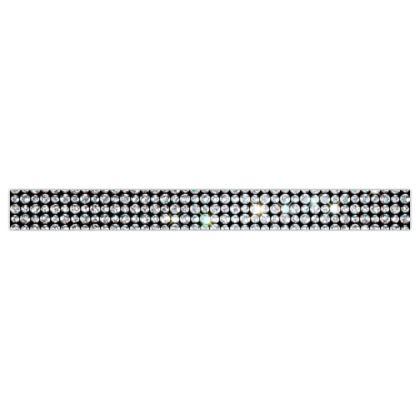 Diamond glamor - Printed Ribbon - shiny crystals, chic, black and white, sparkling, precious, humor, looks expensive, rhinestones, glitter, jewelery, glamorous fun gift - design by Tiana Lofd