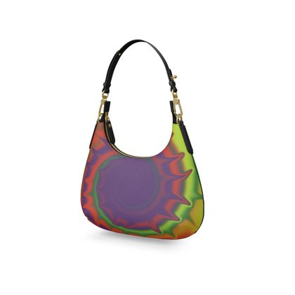 Mini Curve Bag - Colourful Spiked Ball