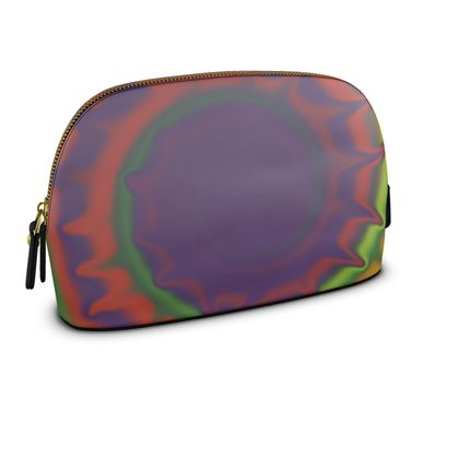 Large Premium Nappa Make Up Bag - Colourful Spiked Ball