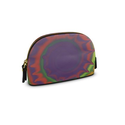 Small Premium Nappa Make Up Bag - Colourful Spiked Ball