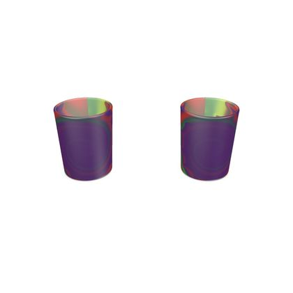 Round Shot Glass 2 Set - Colourful Spiked Ball