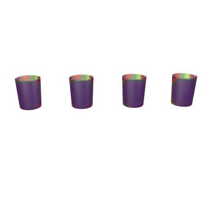 Round Shot Glass 4 Set - Colourful Spiked Ball