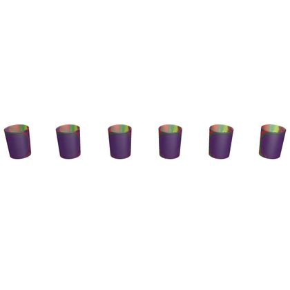 Round Shot Glass 6 Set - Colourful Spiked Ball