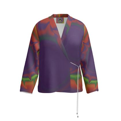 Wrap Blazer - Colourful Spiked Ball