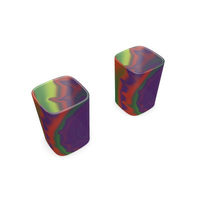 Square Shot Glass 2 Set - Colourful Spiked Ball