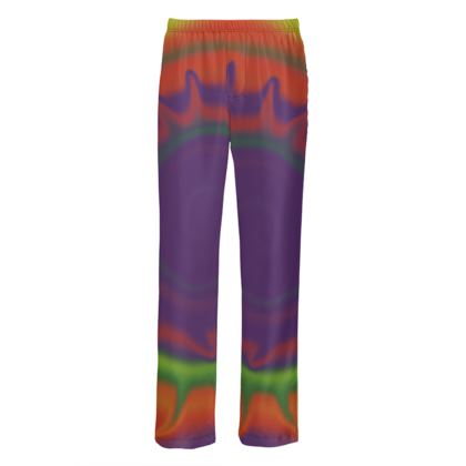 Mens Silk Pyjama Bottoms - Colourful Spiked Ball