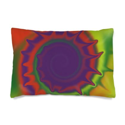 Silk Pillow Case - Colourful Spiked Ball