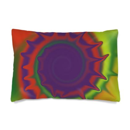 Silk Pillow Cases Sizes - Colourful Spiked Ball