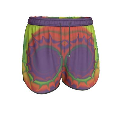 Womens Running Shorts - Colourful Spiked Ball