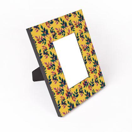 Cut - Out Frame Mustard, Green, Botanical  Slipstream  Goldfinch