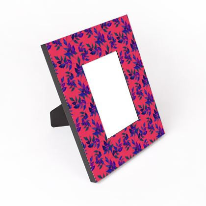 Cut - Out Frame Red, Blue, Botanical  Slipstream  Berries