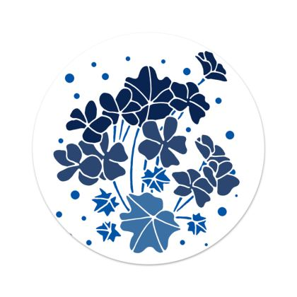 Blue Geranium Serving Platter