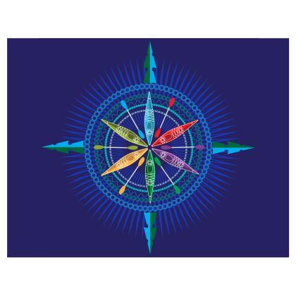 Kayak Compass Rose Handbag