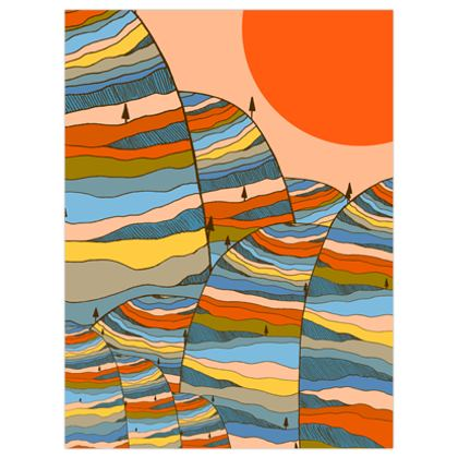 An orange sunny day poster print