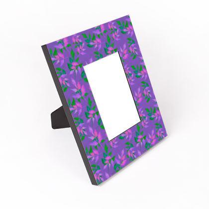 Cut - Out Frame, Purple, Green, Botanical  Slipstream  Indigo Sky