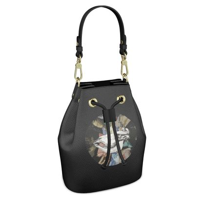 Bucket Bag - Cow Skull on Colourful Background