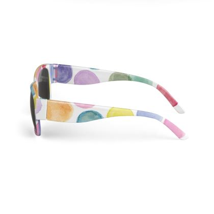 Sunglasses with colorful watercolor dots