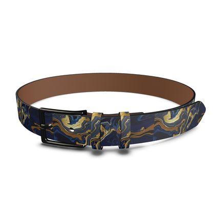 Indigo Ocean Leather Belt