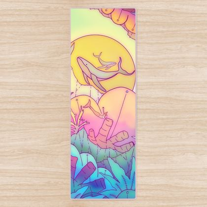As the mermaid travels yoga mat