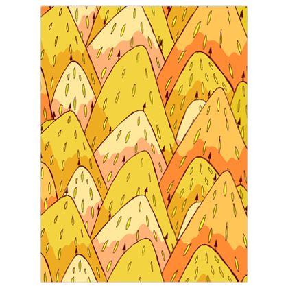 Lemon strawberry hills poster print