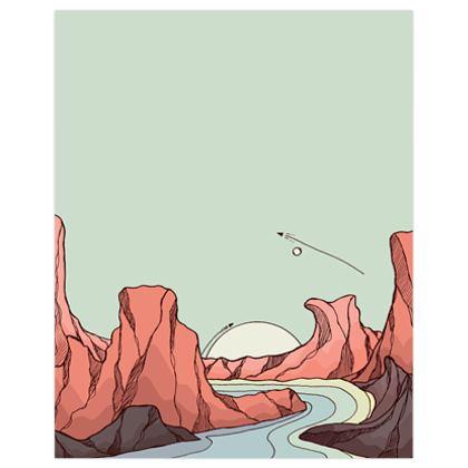The river rock hills poster print