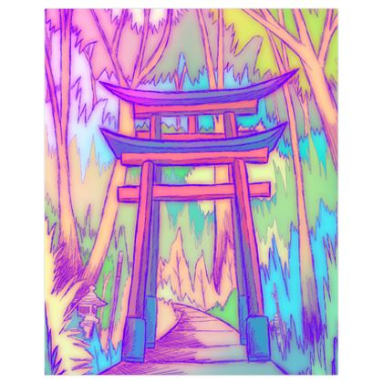 The great gate to the forest poster print