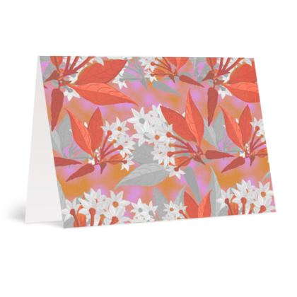 Occasions Cards [Happy Birthday], violet, red, Floral  Jasmine  Warm Spice