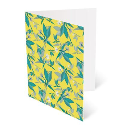 Occasions Card [Birthday], Yellow, Teal, Floral  Jasmine  Canary