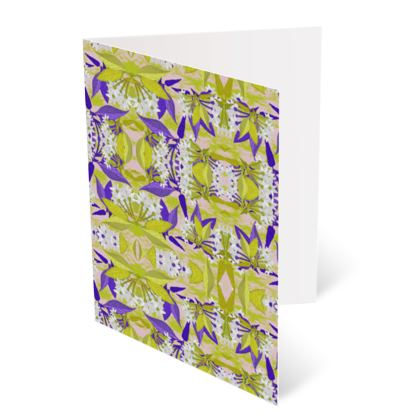 Occasions Cards [Happy Birthday], Yellow, Blue, Floral  Jasmine  Golden Wheat