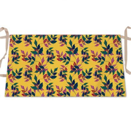 Waist Apron, Yellow, Green, Botanical  Slipstream  Goldfinch