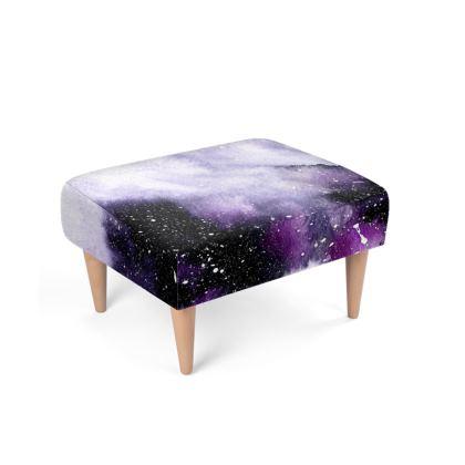 Oceanic Violet Footstool