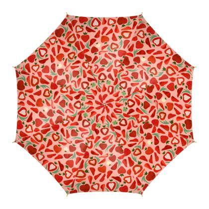Parapluie Kawaï Fraises à la crème