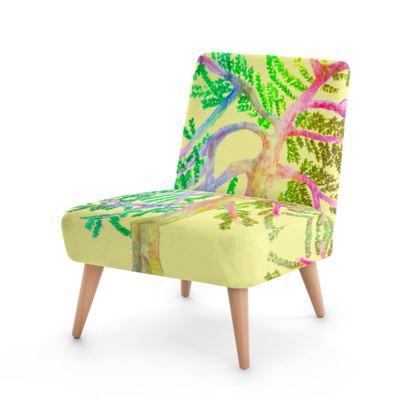 Multicolour Watercolour Chair- Mustard Yellow