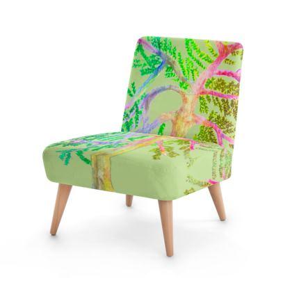 Multicolour Watercolour Chair- Mint Green