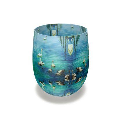 Aqua Bodensee Künstler Wasserglas