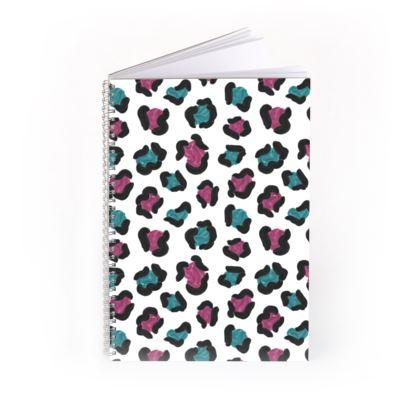 Electropop Leopard Print Notebook