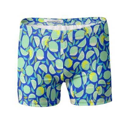 Maillot de bain homme Citrons Bleus