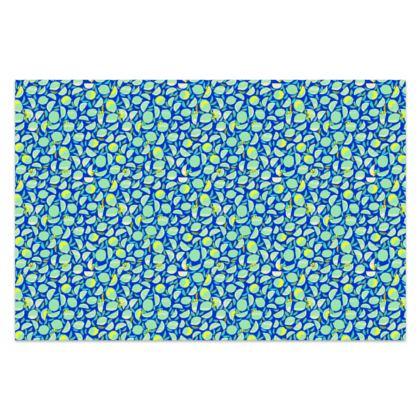 Paréo avec sa boite métal Citrons Bleus