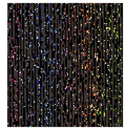 Cabaret Night - Fabric Printing - glitter black, sparkling sparks, scintillant, rainbow gift, iridescent, lurex, glamorous sheen, brilliant chic, Bohemian, spectacular, magical - design by Tiana Lofd
