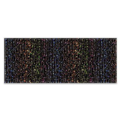 Cabaret Night - Table Runner - glitter black, sparkling sparks, scintillant, rainbow gift, iridescent, lurex, glamorous sheen, brilliant chic, Bohemian, spectacular, magical - design by Tiana Lofd