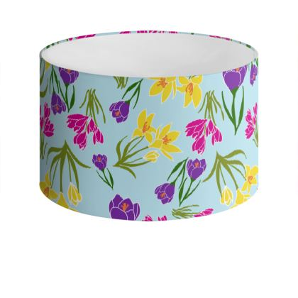 Crocus Drum Lamp Shade