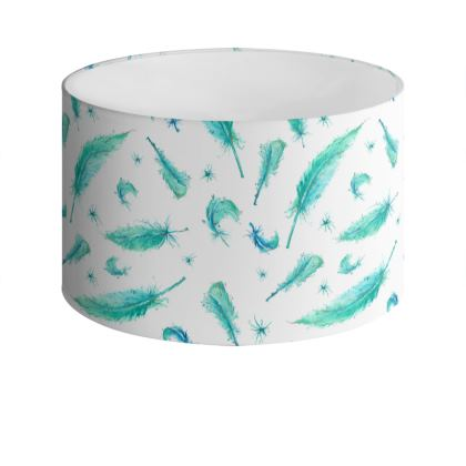 Feather Drum Lamp Shade