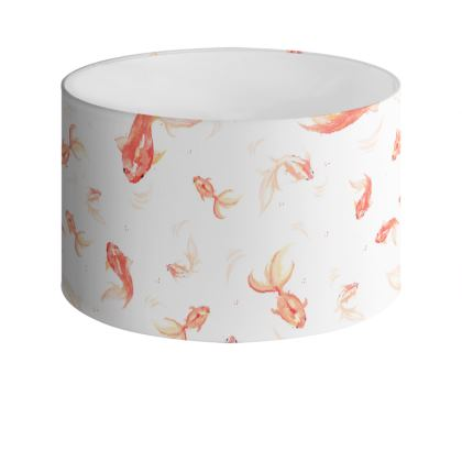 Goldfish Drum Lamp Shade