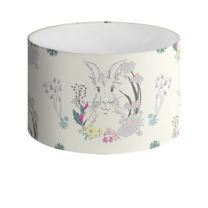 Spring Hare Drum Lamp Shade