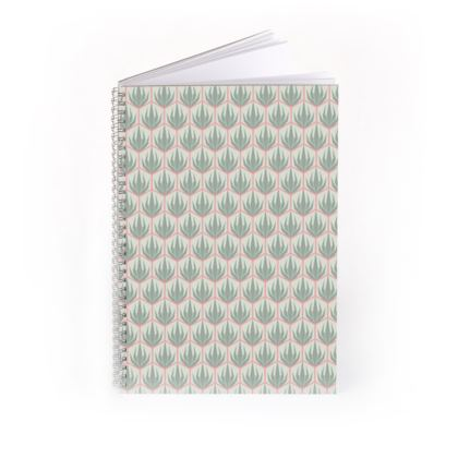 Palm Deco Pattern ~ Spring Succulents Notebook