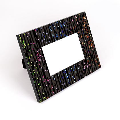 Cabaret Night - Cut-Out Frame - glitter black, sparkling sparks, scintillant, rainbow gift, iridescent, lurex, glamorous sheen, brilliant chic, Bohemian, spectacular, magical - design by Tiana Lofd