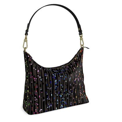 Cabaret Night - 1111111111 - iridescent rainbow lurex, glitter black, sparkling sparks, scintillant, glamorous sheen, brilliant chic, Bohemian gift, spectacular, magical - design by Tiana Lofd