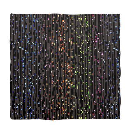 Cabaret Night - Bandana - iridescent rainbow lurex, glitter black, sparkling sparks, scintillant, glamorous sheen, brilliant chic, Bohemian gift, spectacular, magical - design by Tiana Lofd