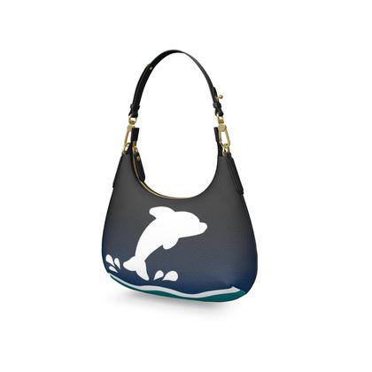 Mini Curve Bag - Dolphin